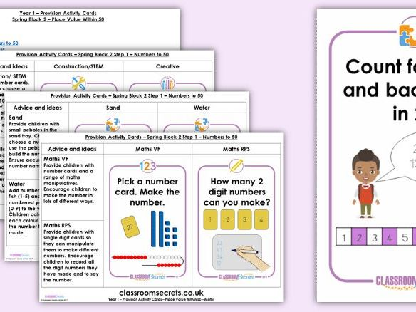 Year 1 Place Value Spring Block 2 Continuous Provision Activities