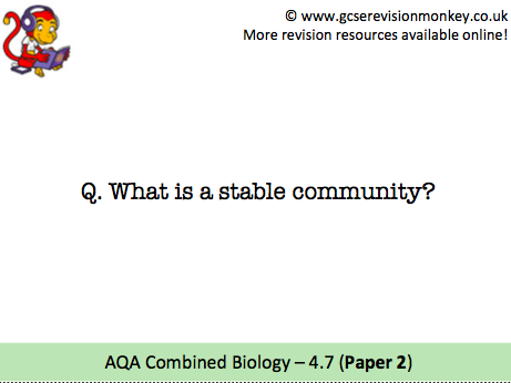 Revision Cards - AQA Combined Biology 4.7