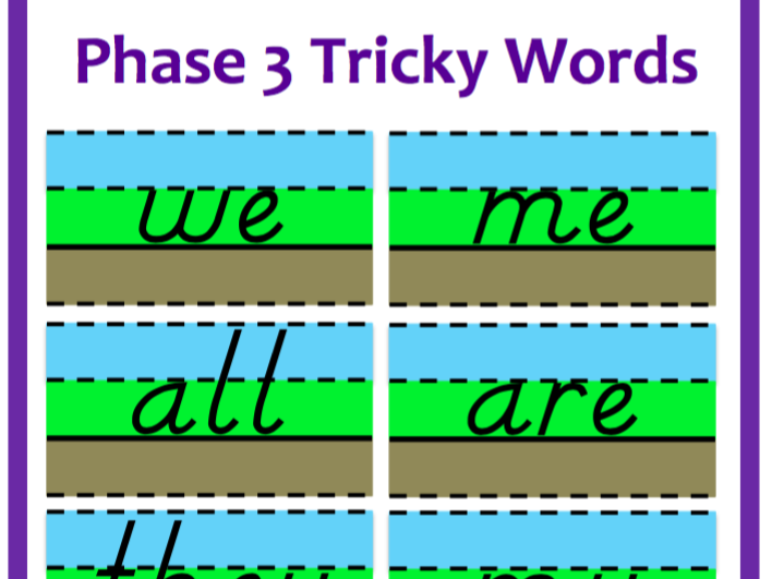 Phase 3 Phonics - Resources