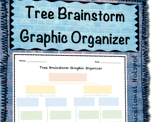 Tree Brainstorm Graphic Organizer Template