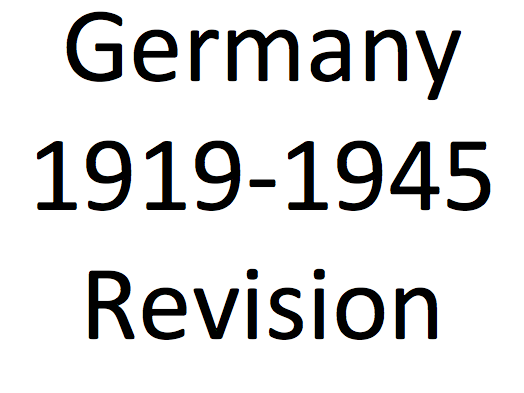 Germany 1919-1945 Revision Podcast