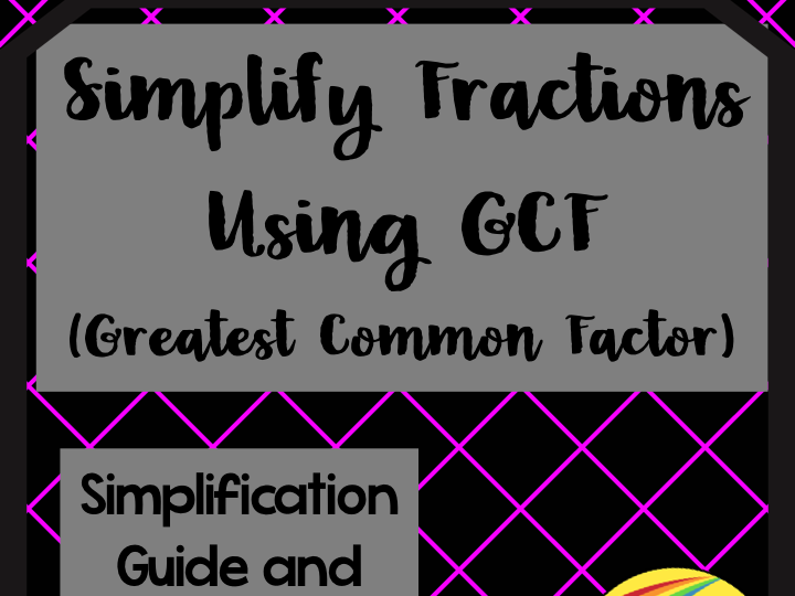 Simplify Fractions Flowchart and Guide Using Greatest Common Factor