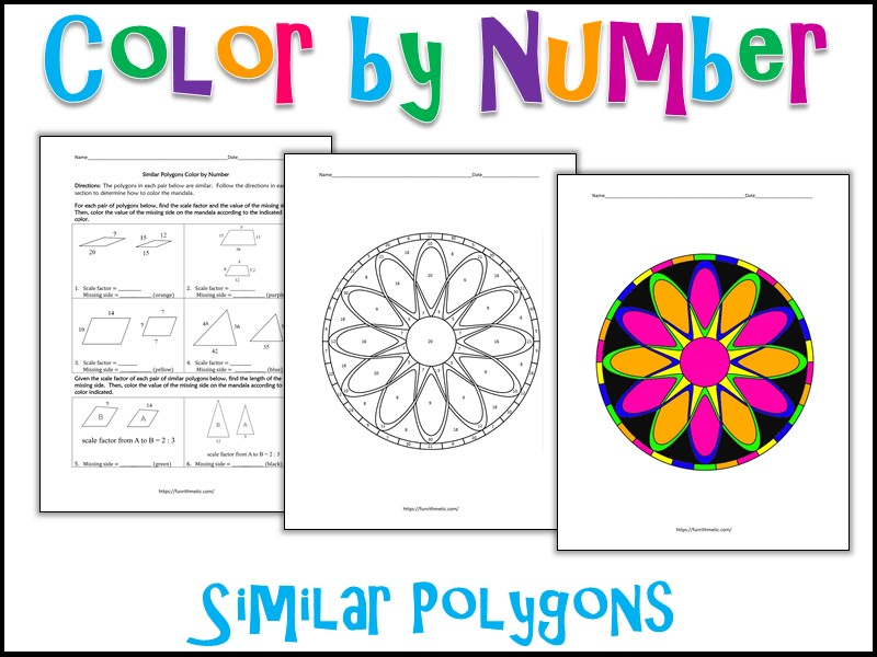 Similar Polygons Color by Number