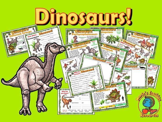 Dinosaurs – Worksheets