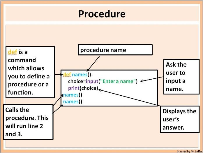 Python Subroutine - Function and procedure