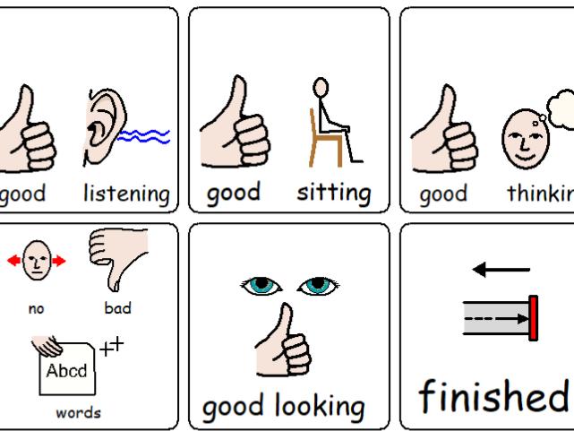 Keychain Visual Support Symbols