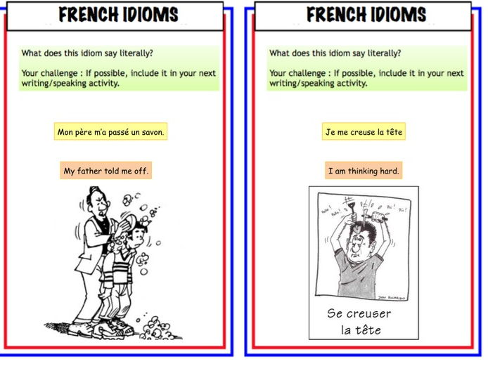 French Idiom KS3/4/5