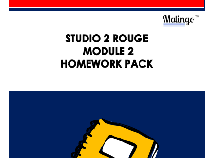 Studio 2 rouge module 2 homework pack 'Paris je t'adore!'
