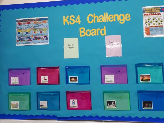 Chemistry trilogy topic challenge wall (C1-C14)