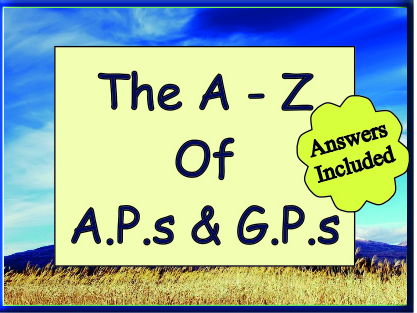 A.P.s and G.P.s + Higher grade questions + Answers