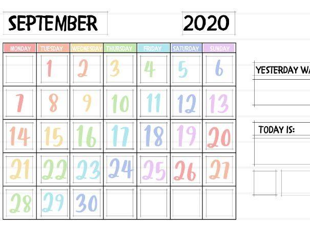 Pastel 2020-2021 Academic Calendar