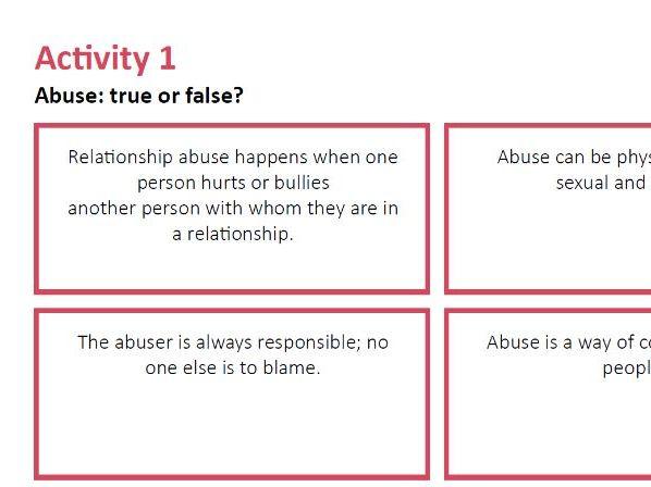 Abuse True or False Session 1