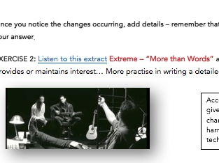 HSC Music 1 Aural lesson on the music element: Structure - includes listening extracts and prompts