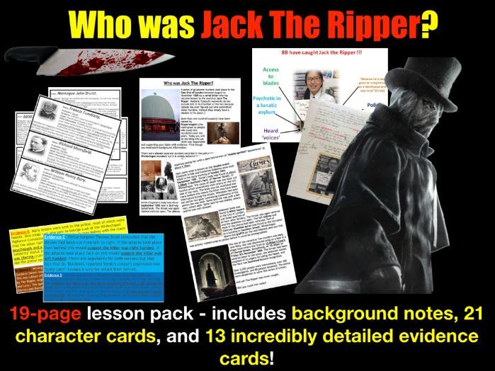 Jack the Ripper identity - 19 page lesson pack