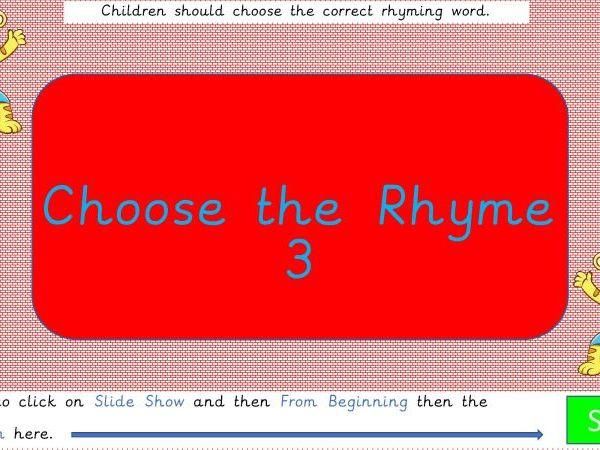Choose the Rhyme 3