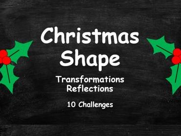 Christmas Shape. Transformations. Reflections. FULL SET