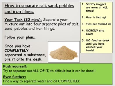 KS3 C1.6 Seperating a mixture (enquiry)