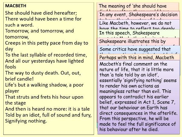 Macbeth: Annotated Act Five