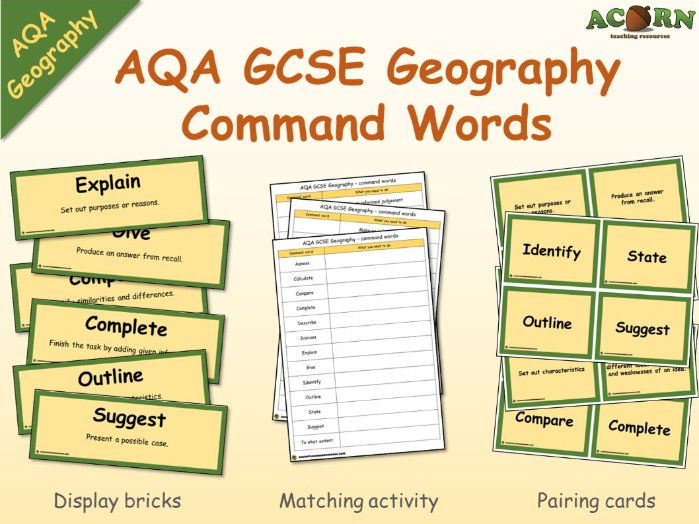 GCSE - AQA Geography - Command Words