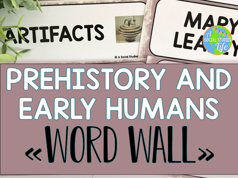 Prehistory and Early Humans Word Wall without definitions