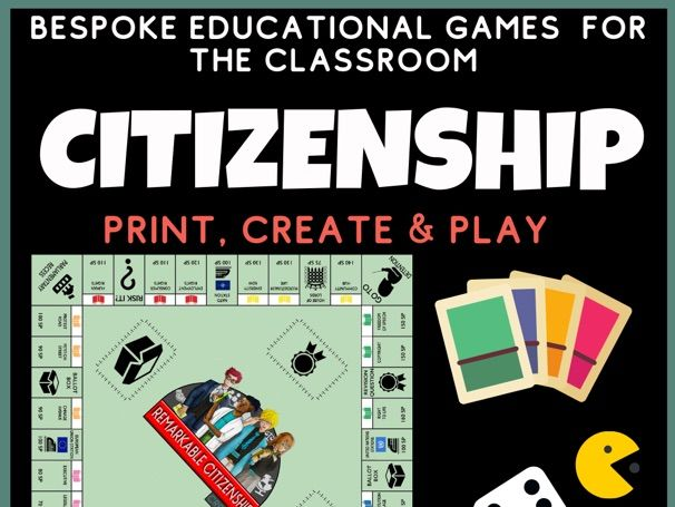 Citizenship Revision Board Game - End of Term