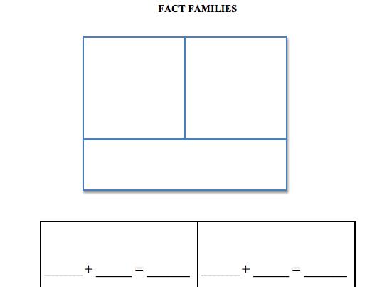 Fact family domino activity