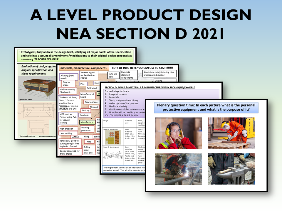 A LEVEL PRODUCT DESIGN NEA SECTION D 2021