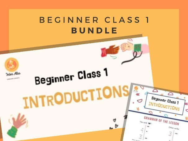BUNDLE! - English Beginner Lesson 1 - Introductions - ESL - TEFL - EFL