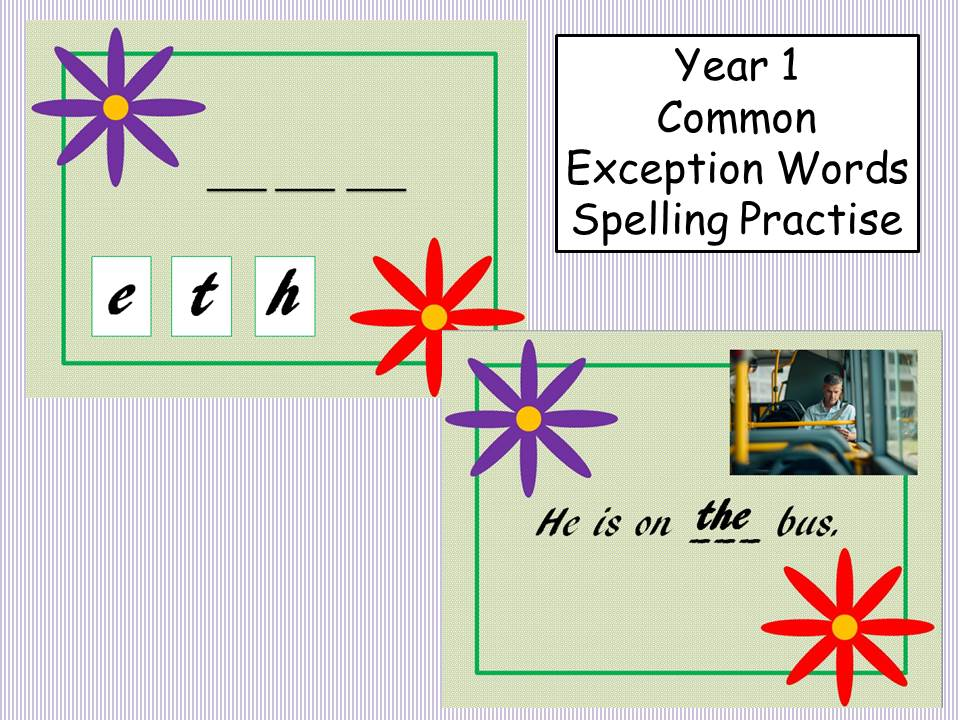 Year 1 Common Exception Words Spelling Practise