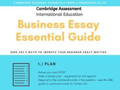 Business A-level Essay Writing Guide