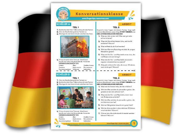 Arbeit - German Speaking Activity