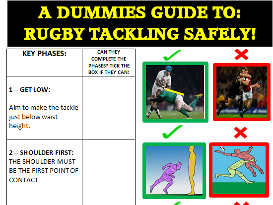 Safe Tackling in Rugby Peer Assessment resource and guide