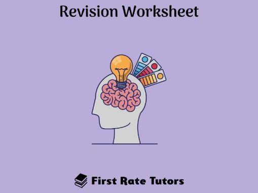 Social Psychology Revision Worksheet