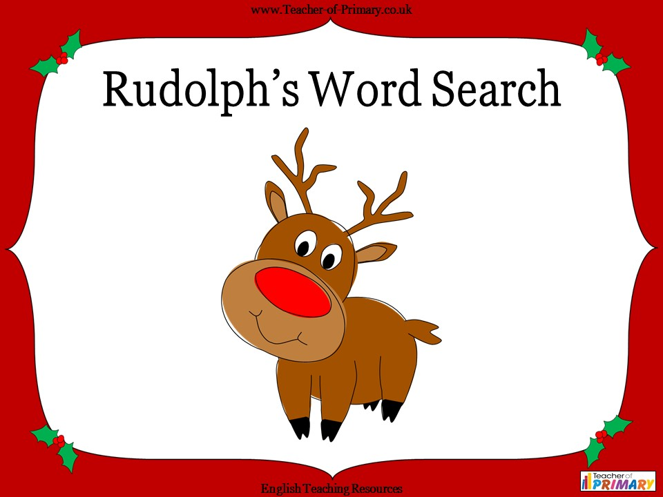 Rudolph's Word Search