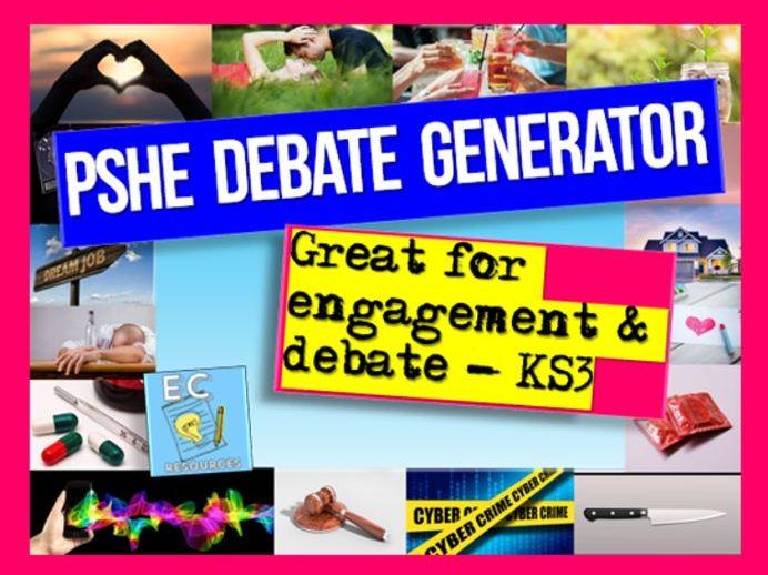 PSHE Debate Generator