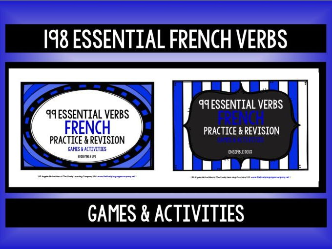 FRENCH VERBS (1 & 2) -  PRACTICE & REVISION - 198 ESSENTIAL VERBS