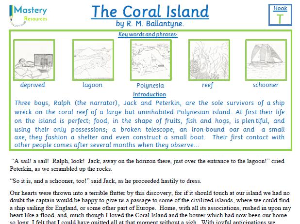 The Coral Island by R.M. Ballantyne Comprehension KS2