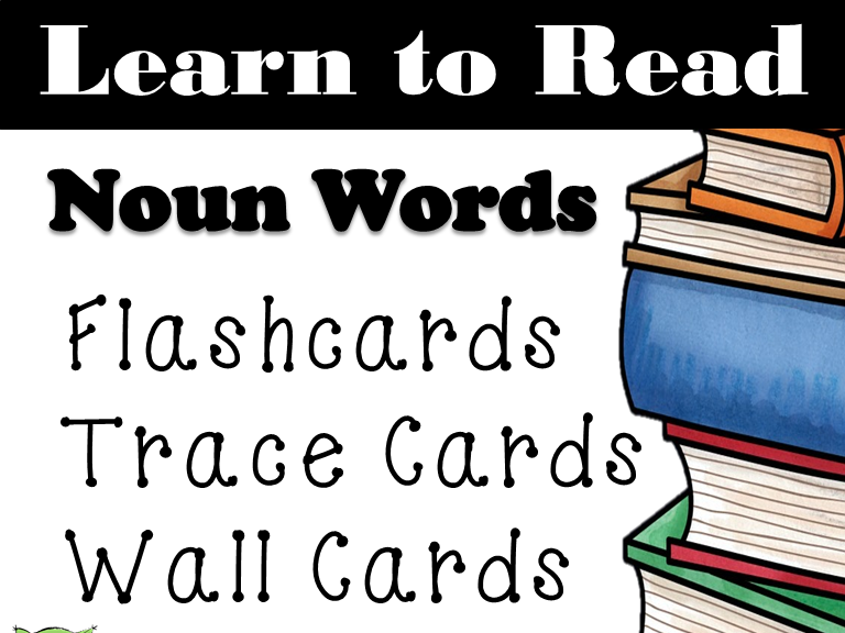 Noun Dolch Words: Word Wall: Word Trace: Dolch Word Flashcards: Sight words