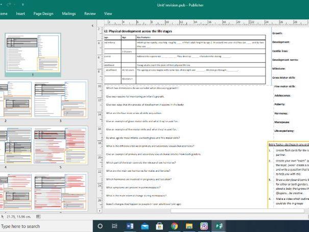 BTEC Health and Social Care - Unit 1 Aim A1-4 revision