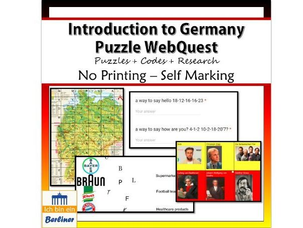 An introduction to Germany WebQuest – Puzzles and Research