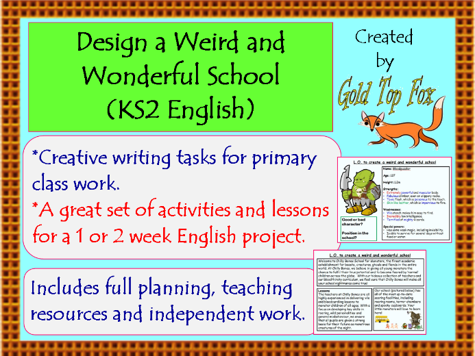 creative writing titles ks2
