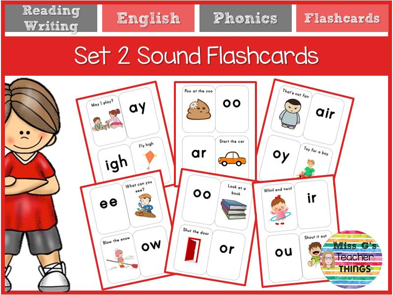 Read Write Inc RWI Set 2 flashcards phonics sounds
