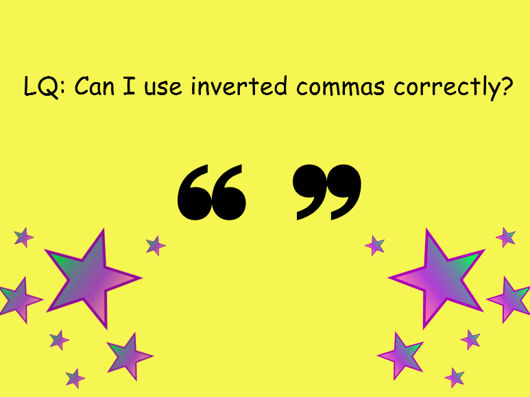 Great grammar lesson on inverted commas!