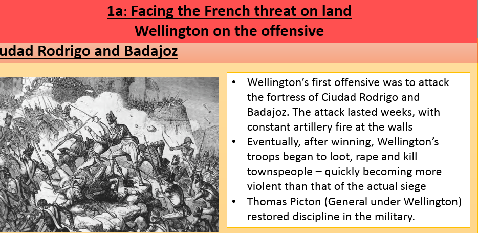 British Experience of Warefare Lesson 4 (Wellington on the Offensive) - Edexcel Paper 3