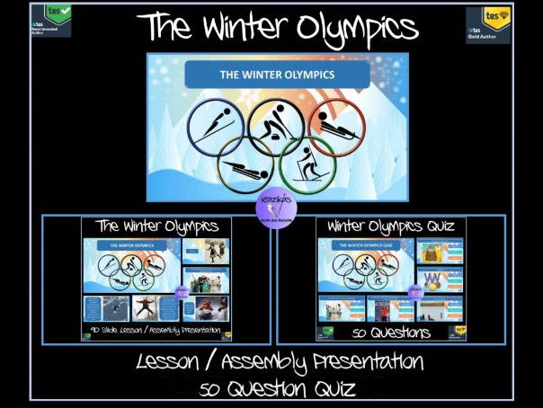 The Winter Olympics 2018 - 90 Slide Lesson / Assembly Presentation / 50 Question PowerPoint Quiz