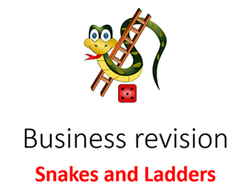 Snakes and Ladders business revision game