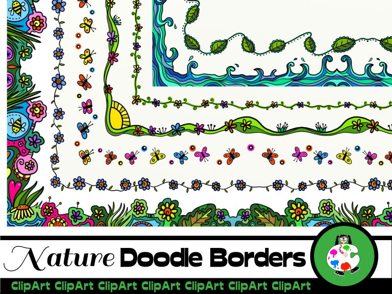 Hand Drawn Doodle Nature Frames