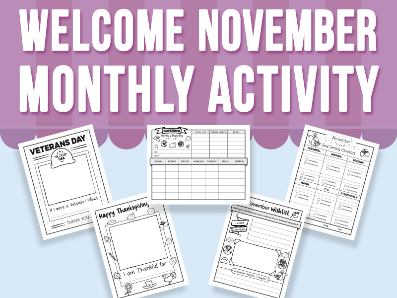 Welcome November - Monthly Activity