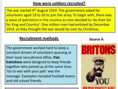 WW1 Recruitment