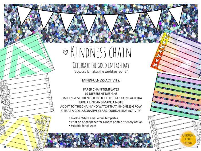Celebrate Kindness! Paper Chain Gratitude and Kindness Mindfulness Activity